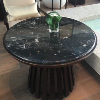 Silver Dragon Round Coffee Table