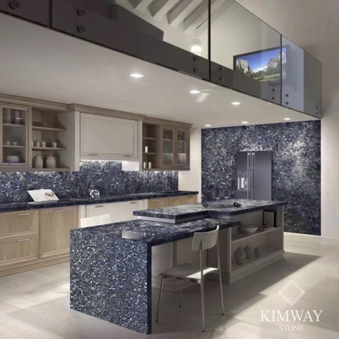 Blue Pearl Kitchen Top & Island