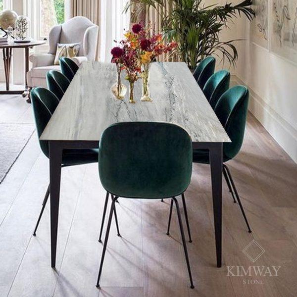 KSM2003 Grigio Calacatta dinner table copy