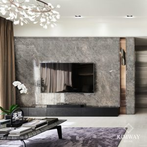 oyster grey TV wall