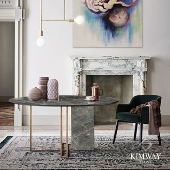 Pascal Grey Round Dining Table