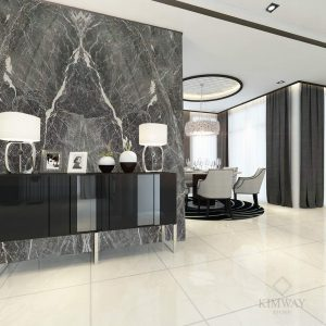 Pascal Grey feature wall