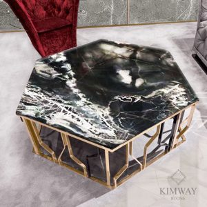 Cosmo Gold Hexagon Coffee Table
