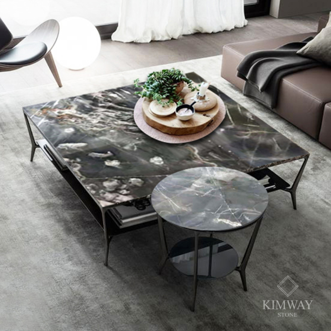 Cosmo Gold Rectangle Coffee Table