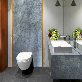 White Carrara Vanity Top & Wall