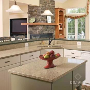 White Diamond Kitchen Top & Island