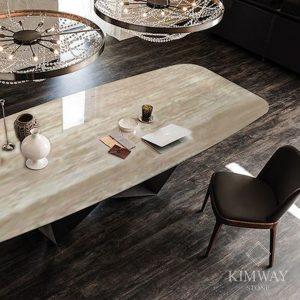 Traveltine Beige Dining Table