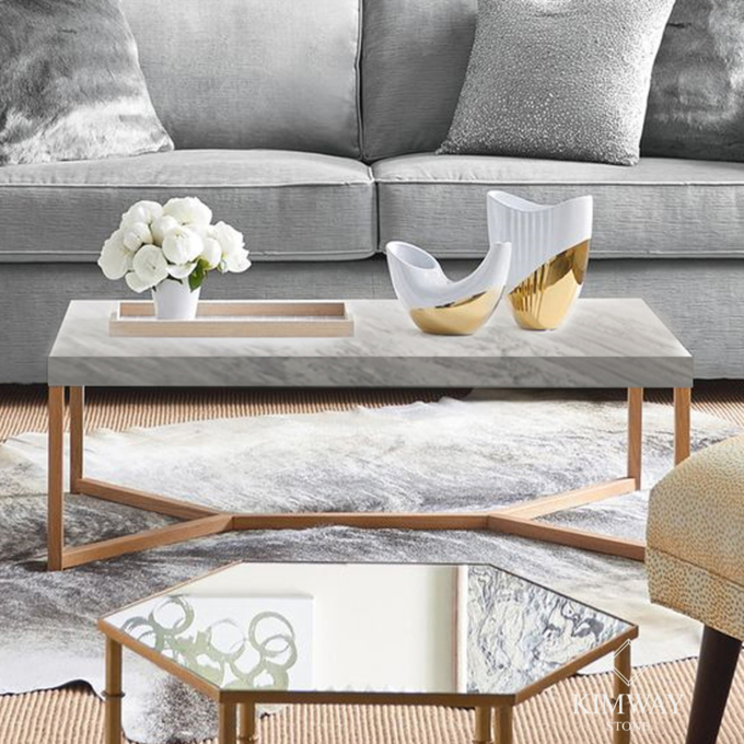 Volakas White Rectangle Coffe Table