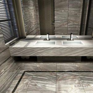 Blue Palisandro Vanity Top & Floor